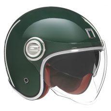 Nox premium jet helmet heritage british green